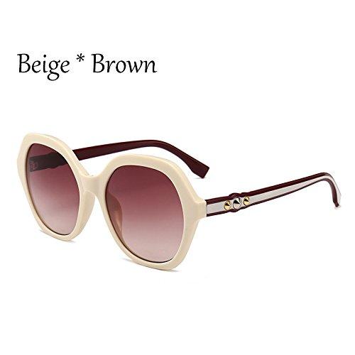 Marco de C6 mujer sol TL Frame C2 Viajes gafas Sunglasses señoras Gafas sol de Beige G351 tonos de extragrandes Gafas verde Vintage sol gnxPnUIR