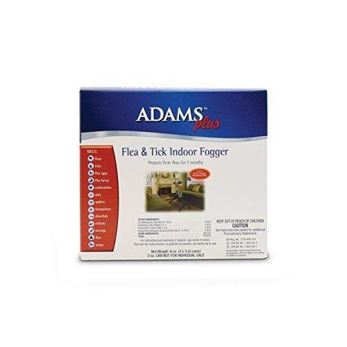 Adams Plus Flea & Tick Indoor Fogger, 3 Pack