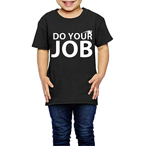 AK79 Children 2-6 Years Old Boys And Girls Tee New England Do Your Job Patriots Black Size 4 Toddler