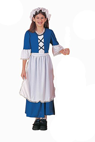 Endless Road 54149 (12-14) Colonial Girl Costume Girl Costume Dress Hat Apron