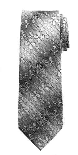 Van Heusen Mens Floral Necktie Tie (Black) ()