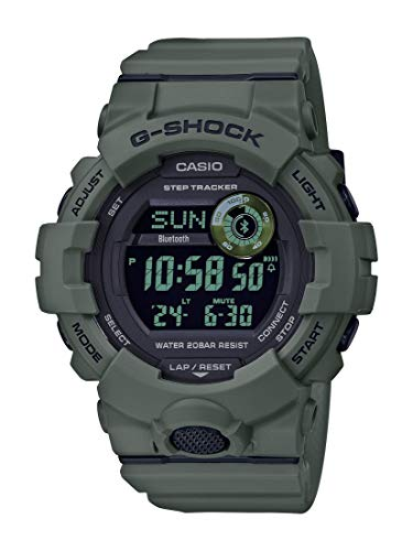 Casio G-Shock Steptracker Bluetooth Olive Green Watch GBD-800UC-3CR