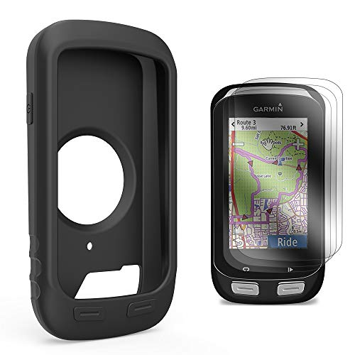 TUSITA Case with Screen Protector for Garmin Edge Explore 1000/Approach G8 - Silicone Protective Cover Skin - Bike Computer GPS Navigator Accessories