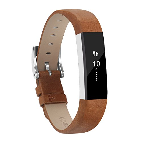 Adepoy Fitbit Alta Bands And Alta Hr Bands  Leather Replacement Wrist Bands For Fitbit Alta Hr And Fitbit Alta Mattebrown