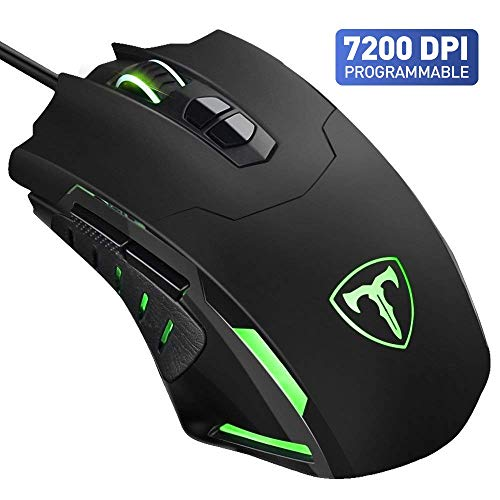 VTIN Programmable Wired 7200 DPI Gaming Mouse with: Amazon co uk