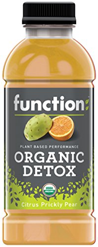 (Function Organic Detox , Citrus Prickly Pear, 16.9oz (Pack of 12))