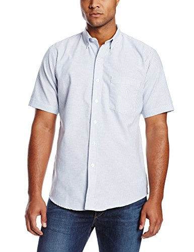 Dickies Occupational Workwear SS46BS 165 Polyester/Cotton Men's Button-Down Short Sleeve Oxford Shirt, 16-1/2