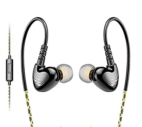 AGPTEK Adjustable Sport in-Ear Wired Earphone for Mp3 Players, Smartphones,  Laptops, Tablets with 3 5mm Audio Line-in, 5 Sets Silicon Ear Buds,Green