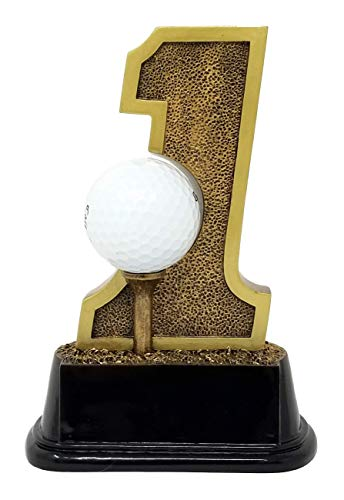 -  Golf Hole-in-One Trophy ⛳ Golf Tournament Award | 6 Inch Tall - Free Engraved Plate on Request - Decade Awards