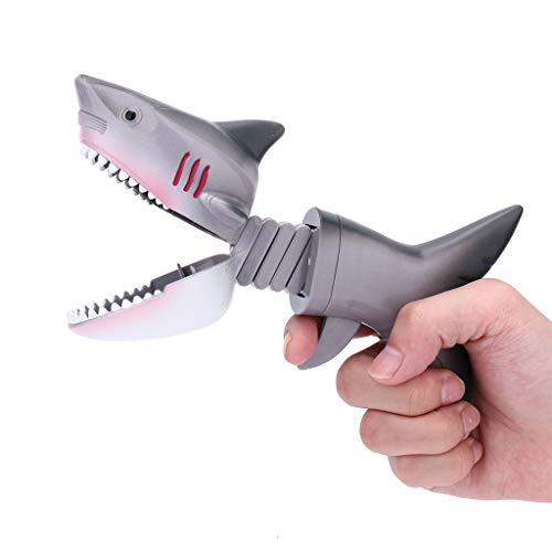 Lumumi Shark Animal Figures Grabber Claw Game Snapper Pick Up Claw Novelty Kids Gift ()