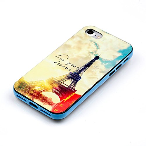 Defunct Eiffel Tower Detachable 2-in-1 PC Bumper TPU Case for iPhone 7
