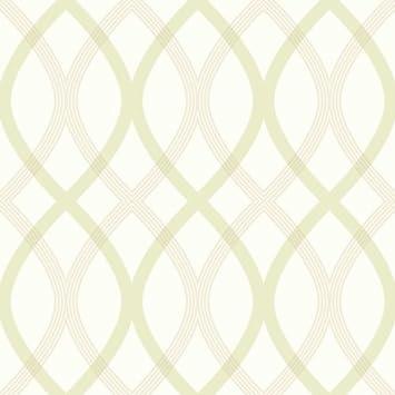 Fd20669 Lattice Papier Peint Motif Geometrique Vert Beige Amazon Fr