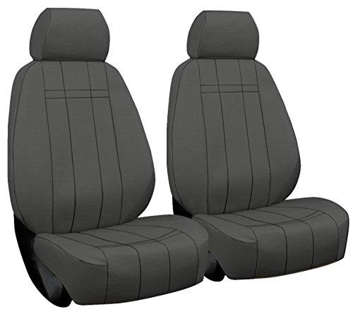 Front Seats: ShearComfort Custom Waterproof Cordura Seat Covers for Mercury Mountaineer (1997-2005) in Gray for Buckets w/Adjustable Headrests ()