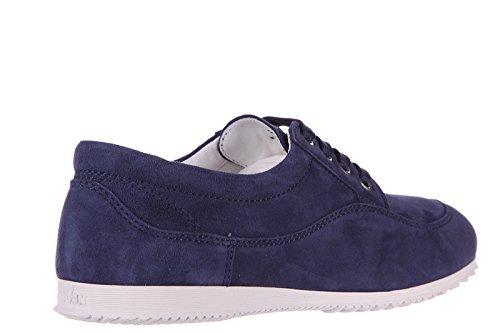 Hogan chaussures baskets sneakers femme en daim h258 blu