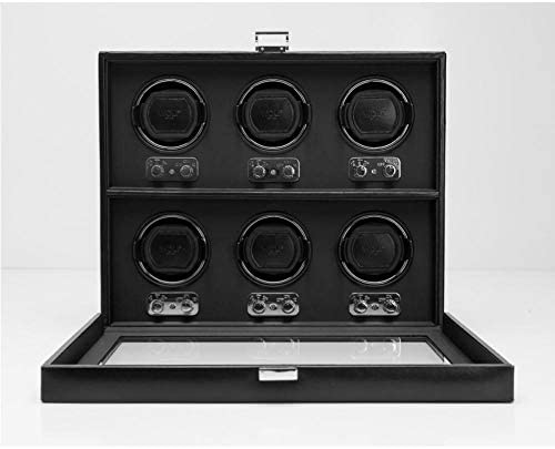 ウルフHeritage 6 piece watch winder ブラック