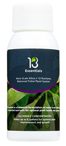 13Essentials - Foliar Spray Fertilizer, Food for Stunning Growth and Healthier Plants, Non-Toxic, Yield Maximizer - Liquid Fertilizer for Indoor and Outdoor Plants, Vegetables, Flowers, Cannabis -