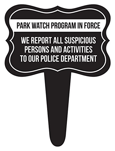 iCandy Combat Park Watch Program in Force Home Yard Lawn Sign, Black, 12x16, Single