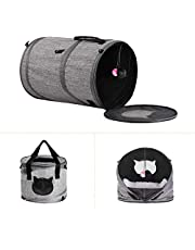 Multi-Functional Cat Pet Travel Carrier Short Tunnel Bag, Rexway 3-in-1 Cat Kennel Bed Condo for Indoor Use, Soft-Sided Pet Carrier Bag for Small Dogs and Cats