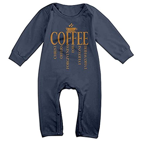 Jesus Coffee Logo Baby Onesie Bodysuit Toddler Clothes Jumpsuits Longsleeve - Barbera Coffee