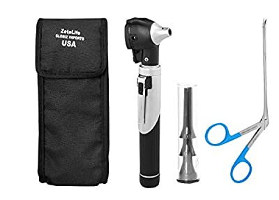 ZetaLife Pet Compact Pocket Size Otoscope - Ear Infection Detector for Dog, Cat & Pets