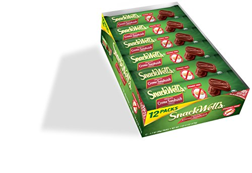 Snackwell's Chocolate Creme Sandwich Cookies, 1.7 Ounce (Pack of 12) (Cream Sandwich)