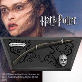 Harry Potter Bellatrix Lestrange Costume (Harry Potter BELLATRIX Wand Replica with base)