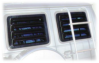 Willpak Industries 2028 ABS Van Rear Window Louver for Ford Econoline