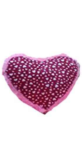 CLICK4DEAL Soft Heart Shape Cusion - Pink