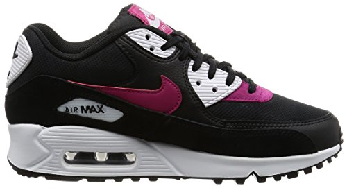 Nike Dames Air Max 90 Prm Loopschoen Zwart / Sport Fuchsia-wit