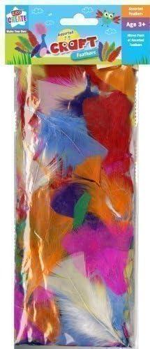 Pack de plumas de colores mezclados para niños manualidades, arte rojo azul verde: Amazon.es: Juguetes y juegos
