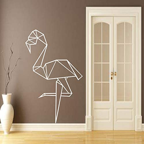 Ajcwhml Flamingo Origami Vinilo Pegatinas de Pared Mural Cartel Tatuajes de Pared Sala de Estar decoración Arte de la Pared Wallpaper decoración del hogar 58X91CM: Amazon.es: Hogar