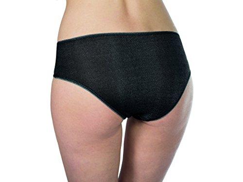 Juego Dermasilk 3Slip Comfort Black (fibroina de seda L (46/48)