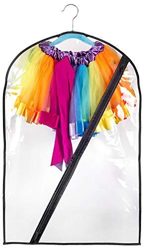 Dance Costume Bag Kids Durable Zipper 18x29 Transparent Storage/Transportation]()