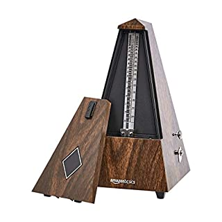 AmazonBasics Mechanical Metronome - Copper Movement - Teak