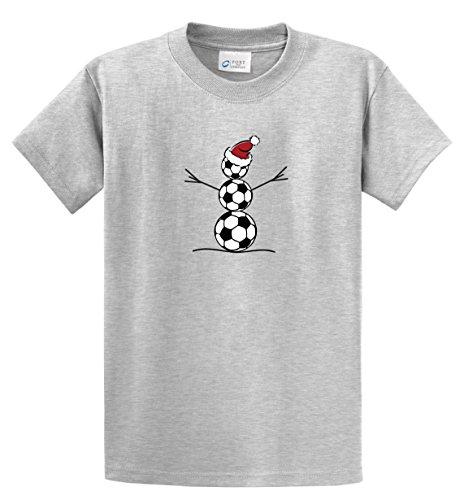 Ash Youth Football - Soccer Snowman short-sleeve T-shirt - color ash gray - size Youth Medium