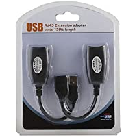 SMAKNÂ USB over Cat5/5e/6 Extension Cable RJ45 Adapter Set