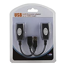 SMAKNÂ USB Over Cat5/5e/6 Extension Cable RJ45 Adapter Set 60 Overcome the length limits of USB cables with this Plug & Play adapter Connect USB devices up to 150 feet away to your computer by going over Cat-5/5e/6 patch cable Use with webcams, mice, keyboards, any device that has a USB plug