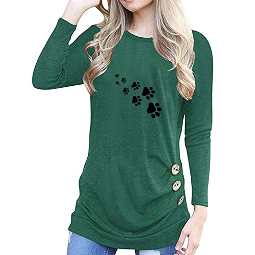 Women Tops,Gillberry O-Neck Appliques Long Sleeve Loose Tops T-Shirt Blouse