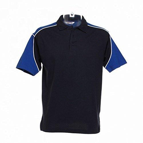 Formula Racing Monaco Mens Short Sleeve Polo Shirt (XXL) (Royal/Black/White)