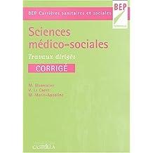 Sciences médico-sociales BEP Carrière sanitaires et sociales : Travaux dirigés