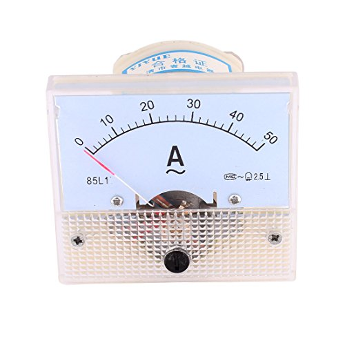 (uxcell Class 2.5 Accuracy Rectangle Shaped Analog Ammeter AC)