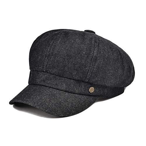 VOBOOM 8 Panel Newsboy Gatsby Ivy Cap Golf Cabbie Driving Beret Hat (322 Black)