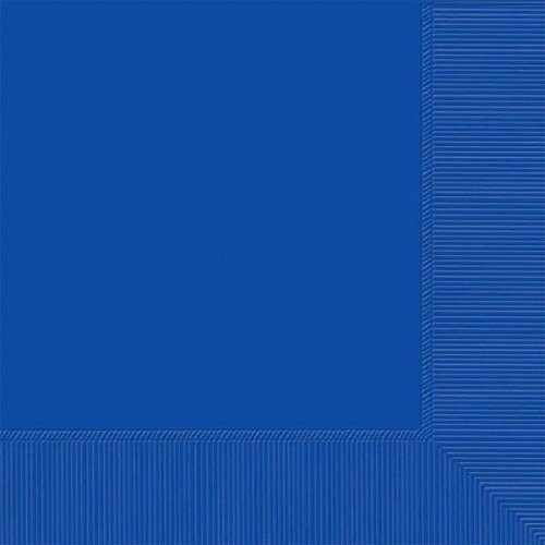 """Luncheon Napkins Color Party Tableware, Bright Royal Blue, 6.5"""" x 6.5"""", Pack of 20. -  Amscan, 51786.105000000003"""