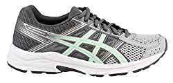 Asics Womens Contend 4 Running Sneaker, Mid Greyglacier Seasilver, Size 12 Wide