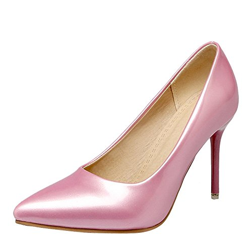Mee Shoes Damen Stiletto Lackleder Geschlossen Pumps Pink