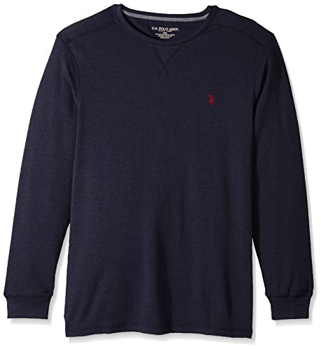 U.S. Polo Assn. Mens Classic Fit Solid Long Sleeve Crew Neck Shirt