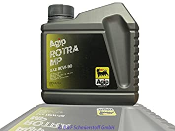 Agip getriebeöl rotra MP 80 W90 1 litros Bote GL 5: Amazon.es: Coche y moto