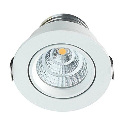 Foco LED empotrable Lugo | lámpara empotrable para Leuchten/techo foco/focos empotrables/| baño/ducha, 4 W/DIMM Bar/giro Bar/230 V/IP54/Blanco Cálido, ...