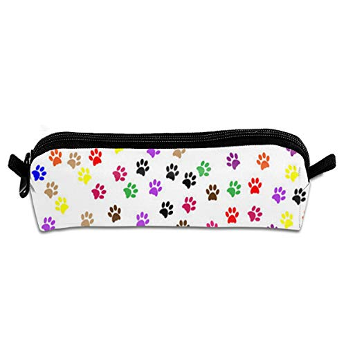 Pencil Bag Paw Prints Inspiring School Pouch Zippered Cosmetic Bags Case for Student