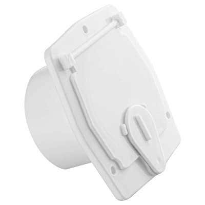 Halotronics RV Square Electrical Cable Hatch for 30 Amp Cords (White): Automotive [5Bkhe0110441]